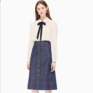 Kate spade denim skirt
